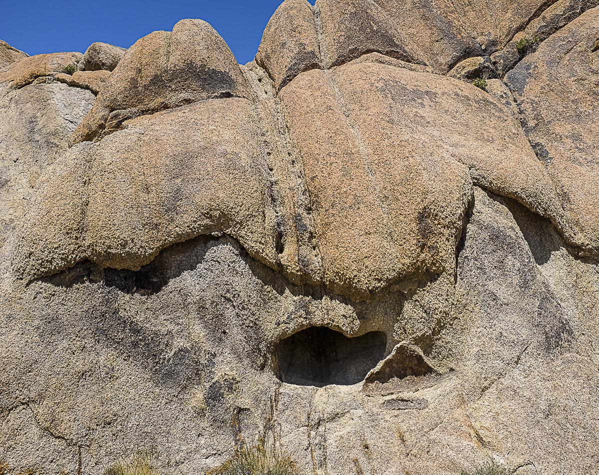 Juicy mocha poured over rock